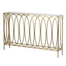 GOLD GLASS TOP CONSOLE