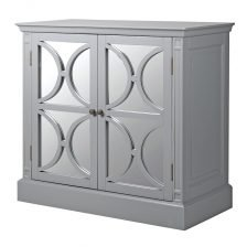 GREY TWO DOOR MIRRORED SIDEBOARD