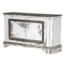 heavily distressed two door sideboard