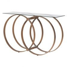 HOOPED METAL CONSOLE