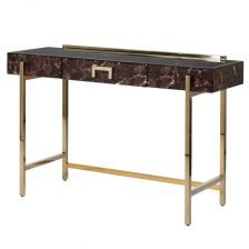 MARBLE EFFECT COMPOSITE CONSOLE