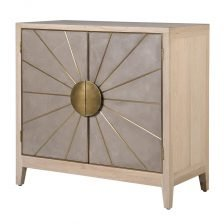 SUNBURST WASHED OAK TWO DOOR SIDEBOARD