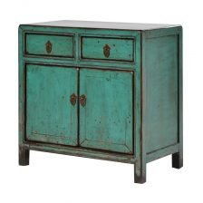 TURQUOISE ORIENTAL TWO DOOR SIDEBOARD
