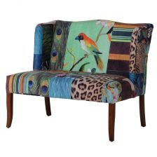 Abstract Collage 2 Seater Settee