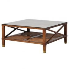 Duke Coffee Table with Glass Top