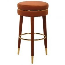 ROUND GOLD TRIM STOOL