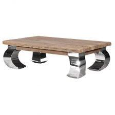 Rectangular Chrome Legs Coffee Table