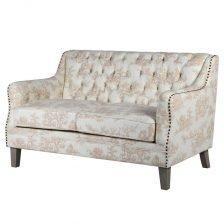 Toile Buttoned Sofa