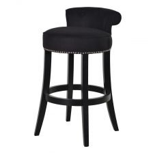 BLACK ROLL BACK STOOL