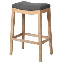 GREY SADDLE SEAT STOOL