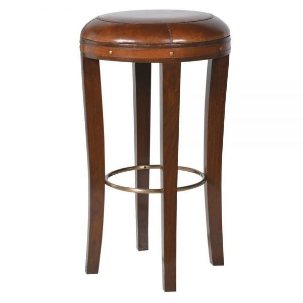 HAND COLOURED TOP GRAIN LEATHER STOOL