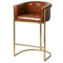 LEATHER EASY STOOL