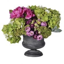 LIME AND CERISE FLORAL DISPLAY