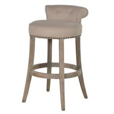 LINEN ROLL BACK STOOL