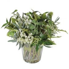 mixed foliage in a vase