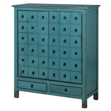 TURQUOISE MOCK DRAWER CABINET