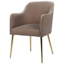 Gold Leg Velvet Chair