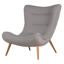 Grey Slouch Chair