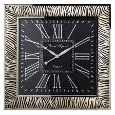 Large Zebra Print Wall Clock