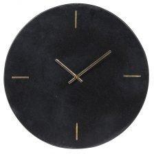 Round Black Marble Clock