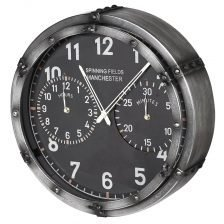 spinning fields industrial wall clock
