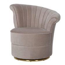 Taupe Velvet Swirl Chair
