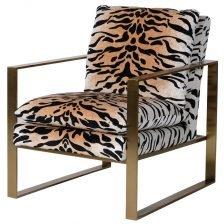 Tiger Print Armchair