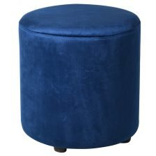 BLUE TUB FOOTSTOOL