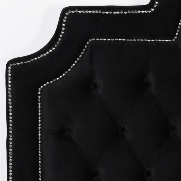 black velvet headboard a
