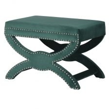 GREEN SADDLE STOOL