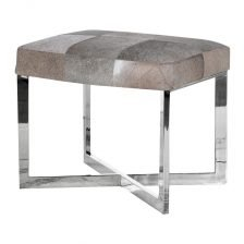 GREY HIDE STOOL