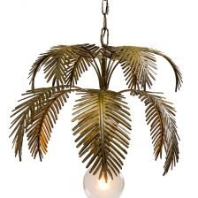 ANTIQUE GOLD FERN PENDANT LAMP