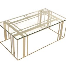 Lafayette Coffee Table Polished Brass