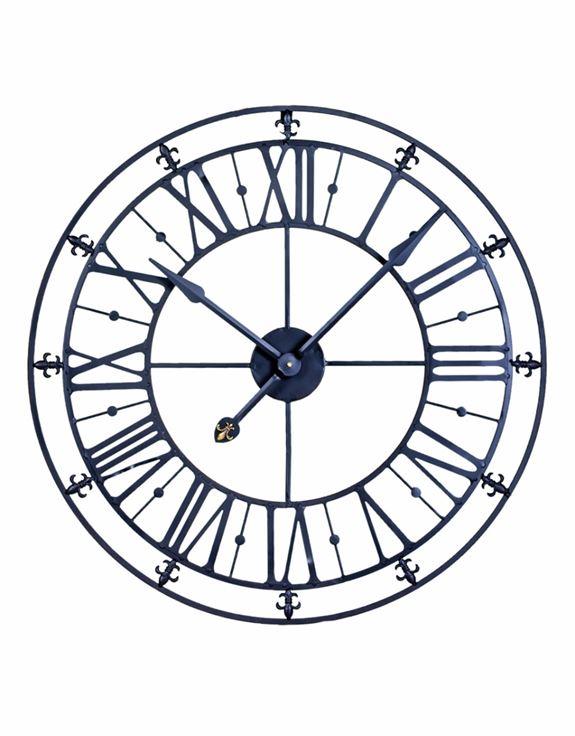 Medium Black Iron Clock