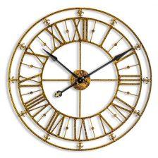 Medium Gold Iron Clock