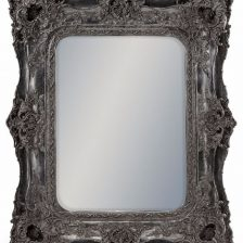 Silver Ornate French Mirror