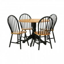 SMALL BLACK PEDESTAL ROUND TABLE