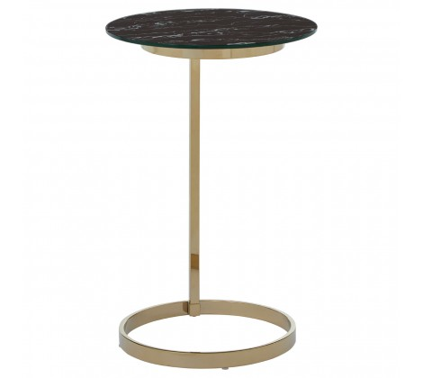 MARBLED GLASS END TABLE