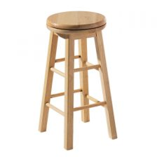 REVOLVING WOODEN BAR STOOL