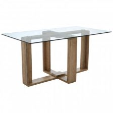 SIX SEAT GLASS TOP TABLE