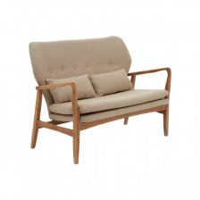 TWO SEAT WOOD FRAME SOFA