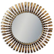 Antiqued Bronze Large Round Mirror
