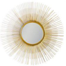 Antiqued Gold Sunburst Mirror