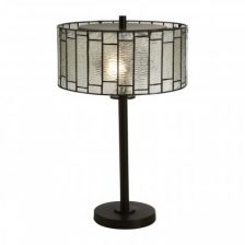 Art Deco Textured Glass Table Lamp