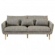 Dappled Grey Fabric 3 Seat Sofa