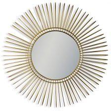 Gold Deep Wire Frame Mirror