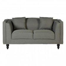 Modern Grey 2 Seat Fabric Sofa