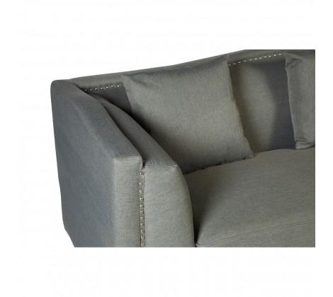 Modern Fabric Sofa 3 seat grey 3