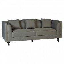 Modern Grey 3 Seat Fabric Sofa