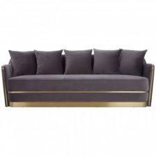 Modern Grey & Gold Sofa